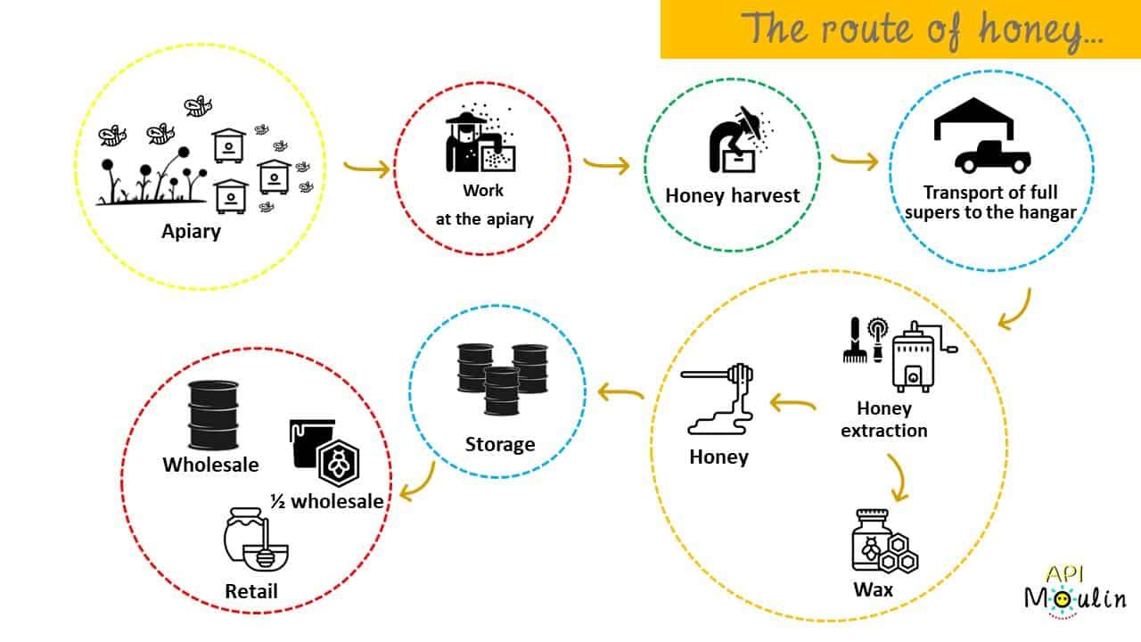 parcours miel vent de miel - apimoulin